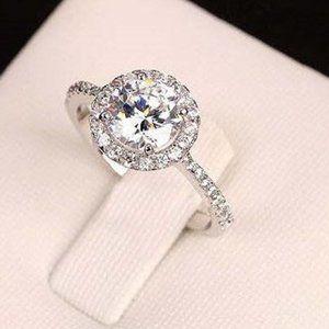 Eloise Swiss CZ 18K Platinum Engagment Ring